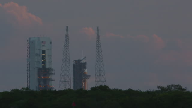 Launch day of Orion Spacecraft on a Delta IV Heavy rocket