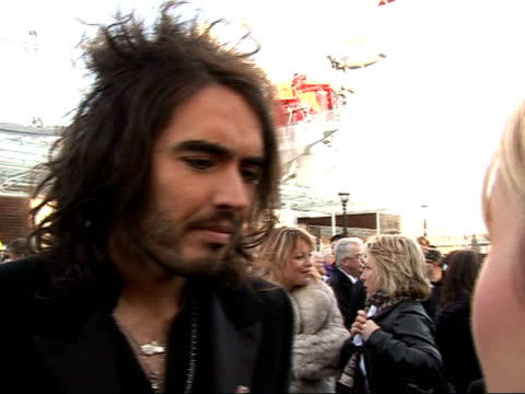 celebrities launch red nose day at london eye russell brand interview sot on comic relief night will be doing level best to get funds to put into own... - human nose stock videos & royalty-free footage