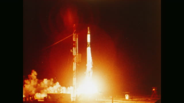 launch of an earth satellite into orbit - 1958 stock videos & royalty-free footage