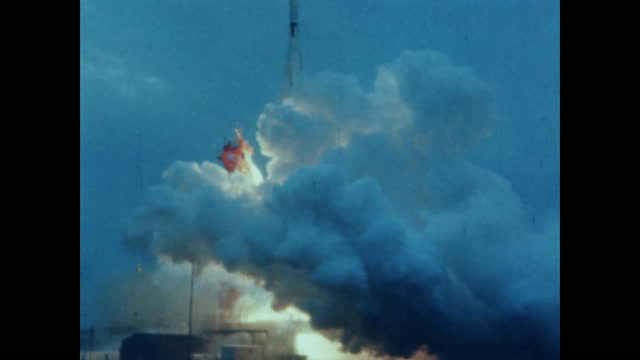 launch of atlas-agena rocket - space exploration stock videos & royalty-free footage