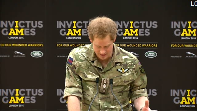 launch of invictus games for injured soldiers press conference england london stratford copper box int sir keith mills press conference sot / prince... - 2014 stock videos and b-roll footage