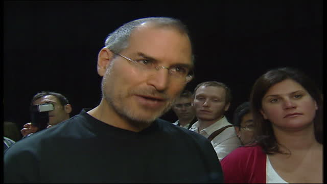 launch of itunes website in london on june 15th 2004 in london england contains black gaps where third party content has been removed includes... - hd format stock videos & royalty-free footage