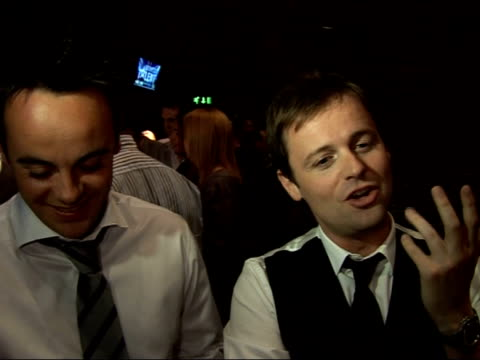 launch of new itv show 'britain's got talent'; ant & dec interview sot - we don't even try to keep a straight face, always hope newcastle auditionees... - britain's got talent stock-videos und b-roll-filmmaterial
