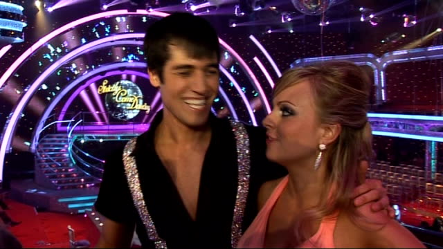 stockvideo's en b-roll-footage met launch of new strictly come dancing series interviews with contestants tina o'brien interview with jared murillo sot on how he is settling in the... - soapserie