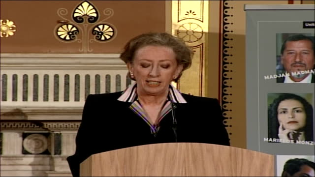 launch of the 2006 annual report on human rights margaret beckett speech the second area i want to mention might surprise some of you trade when my... - raised eyebrows stock videos & royalty-free footage