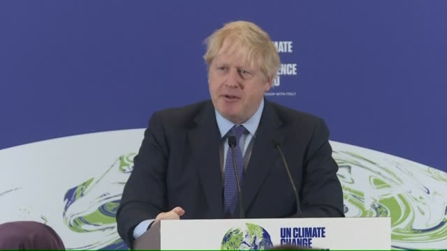 launching the uk's hosting of december's cop26 un climate change summit prime minister boris johnson says the aim for the glasgow event is to get... - climate stock videos & royalty-free footage