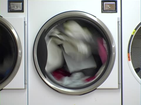 laundry dryer - laundromat stock videos & royalty-free footage