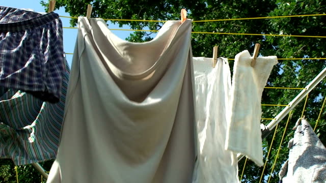 laundry drying - clothes peg stock videos & royalty-free footage