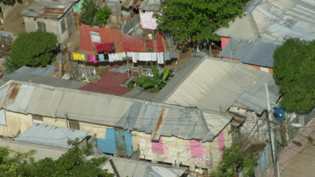 laundry hangs in a poverty stricken area of kingston jamaica. - jamaica stock videos & royalty-free footage