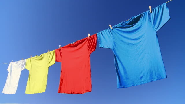 hd: laundry in nature - washing line stock videos & royalty-free footage