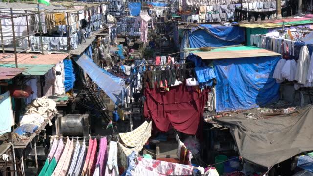 laundry service district in mumbai india - slum stock videos & royalty-free footage