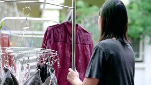 ランドリーサービス - 洗濯物点の映像素材/bロール