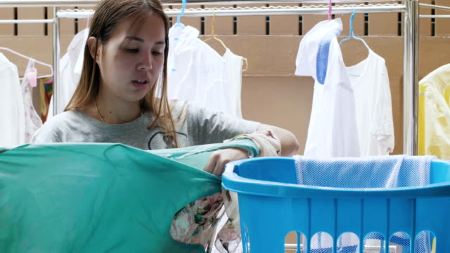 laundry - washing line stock videos & royalty-free footage