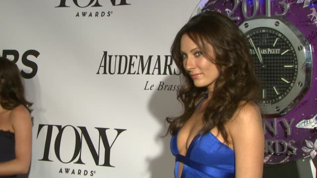 laura benanti at the 67th annual tony awards arrivals at radio city music hall on june 09 2013 in new york new york - laura benanti stock videos and b-roll footage