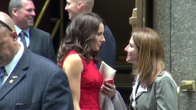laura benanti at the nbc upfront presentation in new york ny on 5/14/2012 - laura benanti stock videos and b-roll footage