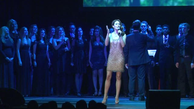 laura benanti at the trevor project's 2012 'trevor live' honoring katy perry on 12/2/12 in los angeles ca - laura benanti stock videos and b-roll footage