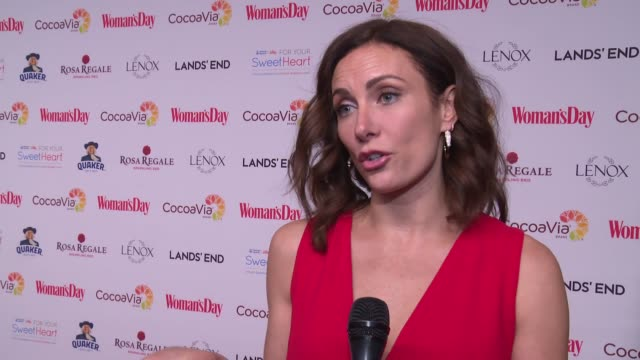 interview laura benanti on why she's attending tonight why women's heart health is so important to her what women can do to be proactive with their... - laura benanti stock videos and b-roll footage