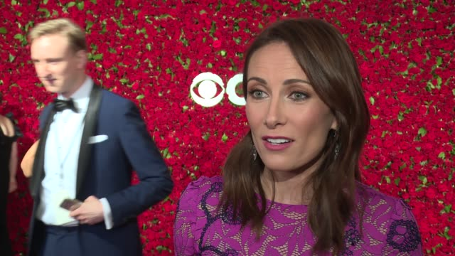 interview laura benanti talks about living her dreams at the 2016 tony awards red carpet at the beacon theatre on june 12 2016 in new york city - laura benanti stock videos and b-roll footage
