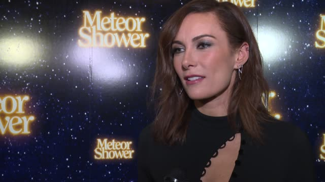 interview laura benanti talks about the joy of working with amy schumer at at meteor shower opens on broadway at booth theater on november 29 2017 in... - laura benanti stock videos and b-roll footage