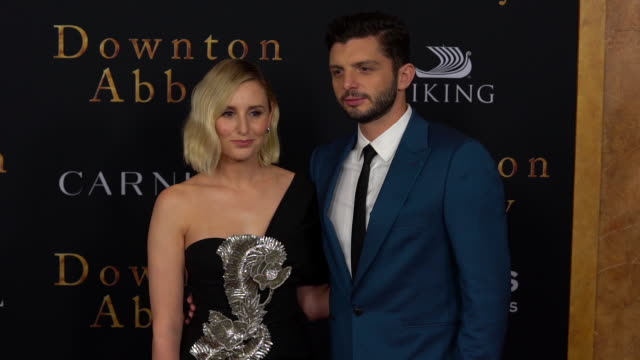 "laura carmichael and michael fox at ""downton abbey"" new york premiere at alice tully hall on september 16, 2019 in new york city. - premiere stock videos & royalty-free footage"