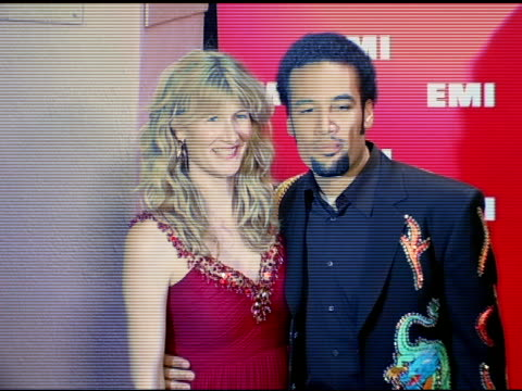 laura dern and ben harper at the emi post-grammy awards bash at the beverly hilton in beverly hills, california on february 13, 2005. - emi grammy party stock videos & royalty-free footage