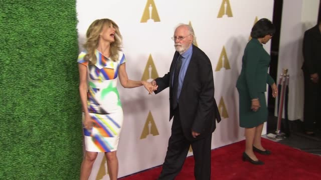vídeos y material grabado en eventos de stock de laura dern and bruce dern at 87th annual academy awards nominee luncheon reception at the beverly hilton hotel on february 02 2015 in beverly hills... - laura dern