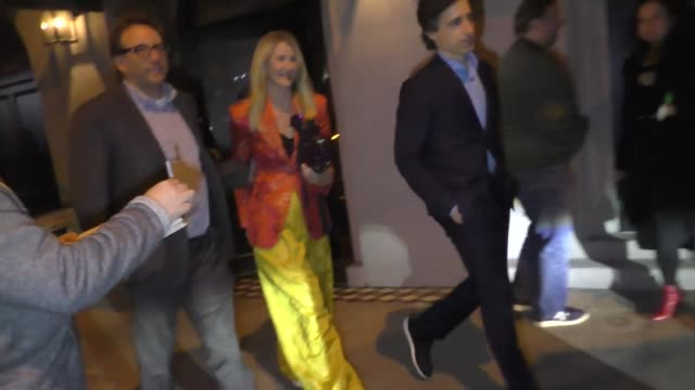 laura dern and noah baumbach outside craig's in west hollywood at celebrity sightings in los angeles on january 04, 2020 in los angeles, california. - celebrity sightings stock videos & royalty-free footage