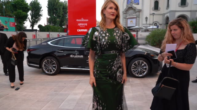 laura dern at marriage story - red carpet arrivals - 76th venice film festival at palazzo del casino on august 29, 2019 in venice, italy . - laura dern stock videos & royalty-free footage