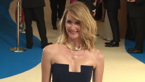 """laura dern at """"rei kawakubo/comme des garcons: art of the in-between"""" costume institute gala - arrivals at the metropolitan museum of art on may 01,... - laura dern stock videos & royalty-free footage"""