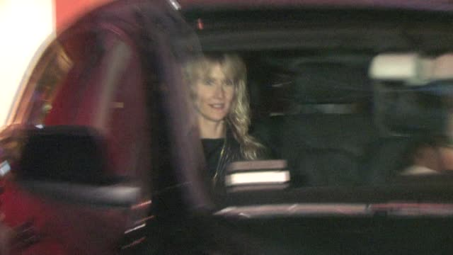 laura dern at sunset tower hotel in west hollywood at the celebrity sightings in los angeles at los angeles ca - avvistamenti vip video stock e b–roll