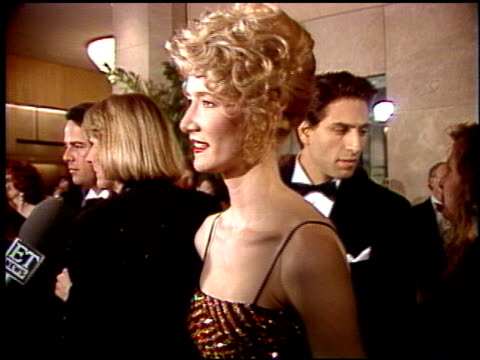 Laura Dern at the 1992 Golden Globe Awards at the Beverly Hilton in Beverly Hills California on January 18 1992