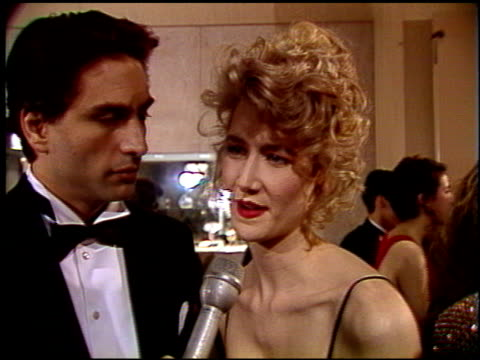 laura dern at the 1992 golden globe awards at the beverly hilton in beverly hills, california on january 18, 1992. - laura dern stock videos & royalty-free footage