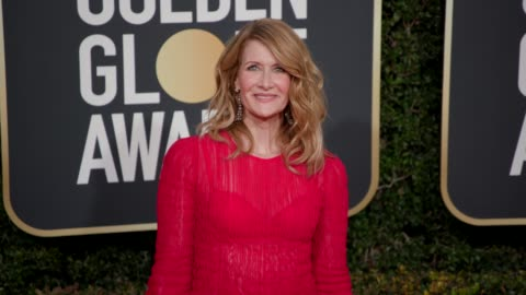 laura dern at the 76th annual golden globe awards - arrivals- 4k footage at the beverly hilton hotel on january 06, 2019 in beverly hills, california. - laura dern stock videos & royalty-free footage