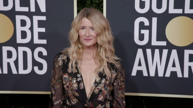 laura dern at the 77th annual golden globe awards at the beverly hilton hotel on january 05, 2020 in beverly hills, california. - laura dern stock videos & royalty-free footage