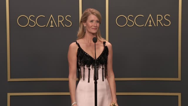 laura dern at the 92nd annual academy awards - press room at dolby theatre on february 09, 2020 in hollywood, california. - academy awards stock videos & royalty-free footage