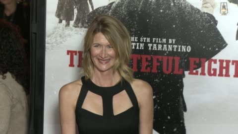 """laura dern at """"the hateful eight"""" world premiere at arclight cinemas on december 07, 2015 in hollywood, california. - arclight cinemas hollywood stock videos & royalty-free footage"""