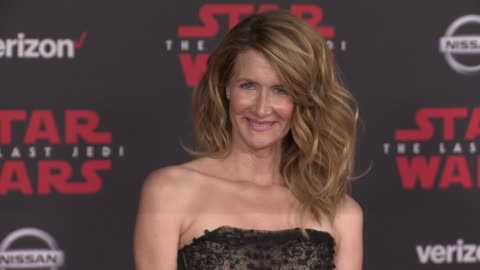 """laura dern at the """"star wars: the last jedi"""" premiere at the shrine auditorium on december 9, 2017 in los angeles, california. - laura dern stock videos & royalty-free footage"""