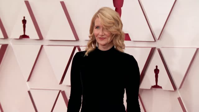 laura dern at the 93rd annual academy awards - arrivals on april 25, 2021. - academy awards stock videos & royalty-free footage