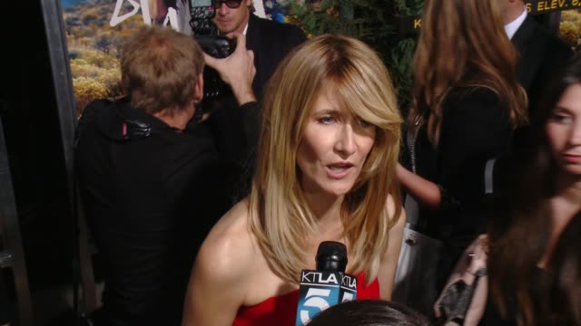 laura dern at 'wild' los angeles premiere presented by fox searchlight at the academy of motion picture arts and sciences on november 19, 2014 in... - academy of motion picture arts and sciences 個影片檔及 b 捲影像