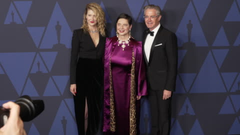 laura dern, isabella rossellini and kyle maclachlan at the 2019 governors awards on october 26, 2019 in hollywood, california. - laura dern stock videos & royalty-free footage