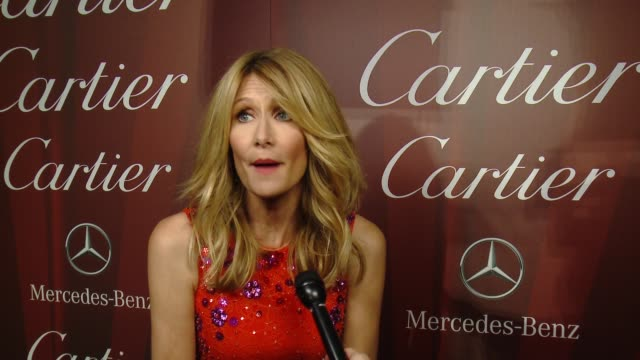 interview – laura dern on being a part of the night what makes this festival different from the others why reese witherspoon is deserving of... - cartier video stock e b–roll