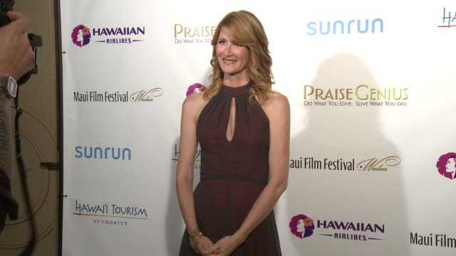 laura dern on being honored at the maui film festival, being in maui and her upcoming projects at the 2015 maui film festival at wailea - day 5 on... - laura dern stock videos & royalty-free footage