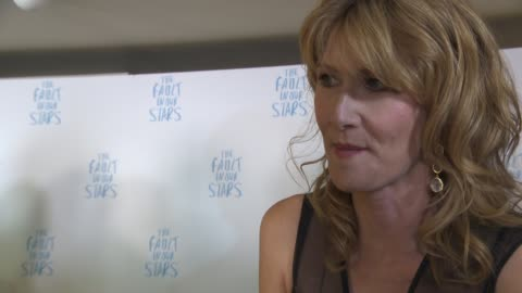 laura dern on the success of the film, the story, working with shailene woodley, her character, being excited about 'jurassic world' at the fault in... - laura dern stock videos & royalty-free footage