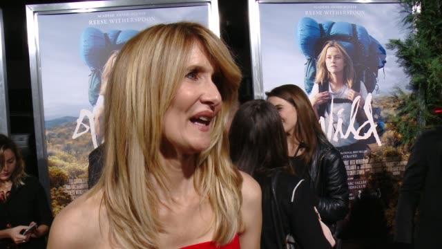 interview laura dern on what makes this story special if she would go on the same journey and what she hopes the audience takes away from the film at... - 映画芸術科学協会点の映像素材/bロール