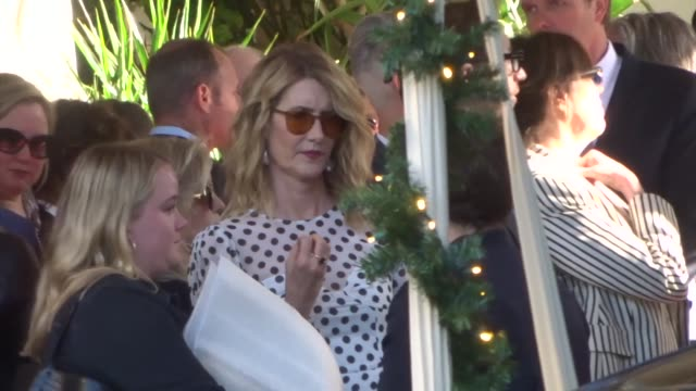 laura dern outside the 20th annual afi awards at the four seasons hotel los angeles at beverly hills at celebrity sightings in los angeles on january... - laura dern stock videos & royalty-free footage