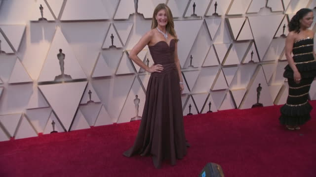 laura dern walking the red carpet at the 91st annual academy awards at the dolby theater in los angeles, california. - music or celebrities or fashion or film industry or film premiere or youth culture or novelty item or vacations 個影片檔及 b 捲影像