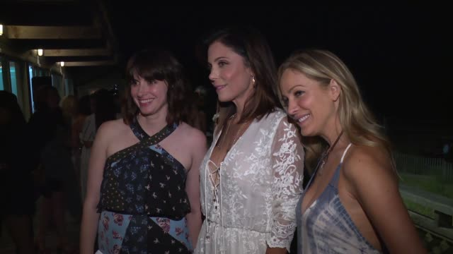laura frererschmidt bethenny frankel and amy keller laird at women's health and feed's 6th annual hamptons party under the stars> on august 05 2017... - bridgehampton stock videos & royalty-free footage