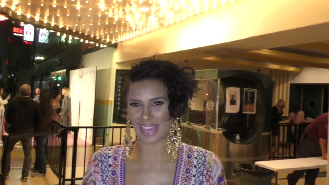 INTERVIEW Laura Govan talks about how her sister Gloria Govan is doing after a car accident outside the Babes For Boobs Event at El Rey Theatre in...