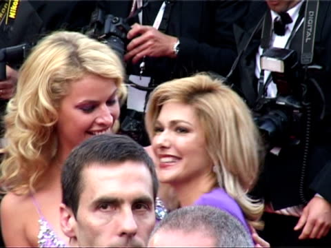 laura haring and kirsty hinze at the cannes 2005 film festival 'where the truth lies' premiere at cannes - laura harring stock videos & royalty-free footage