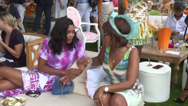 laura harrier and gayle king at the 11th annual veuve clicquot polo classic at liberty state park on june 02 2018 in jersey city new jersey - gayle king stock videos & royalty-free footage